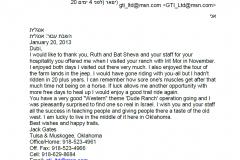 מכתב תודה Jack Gates